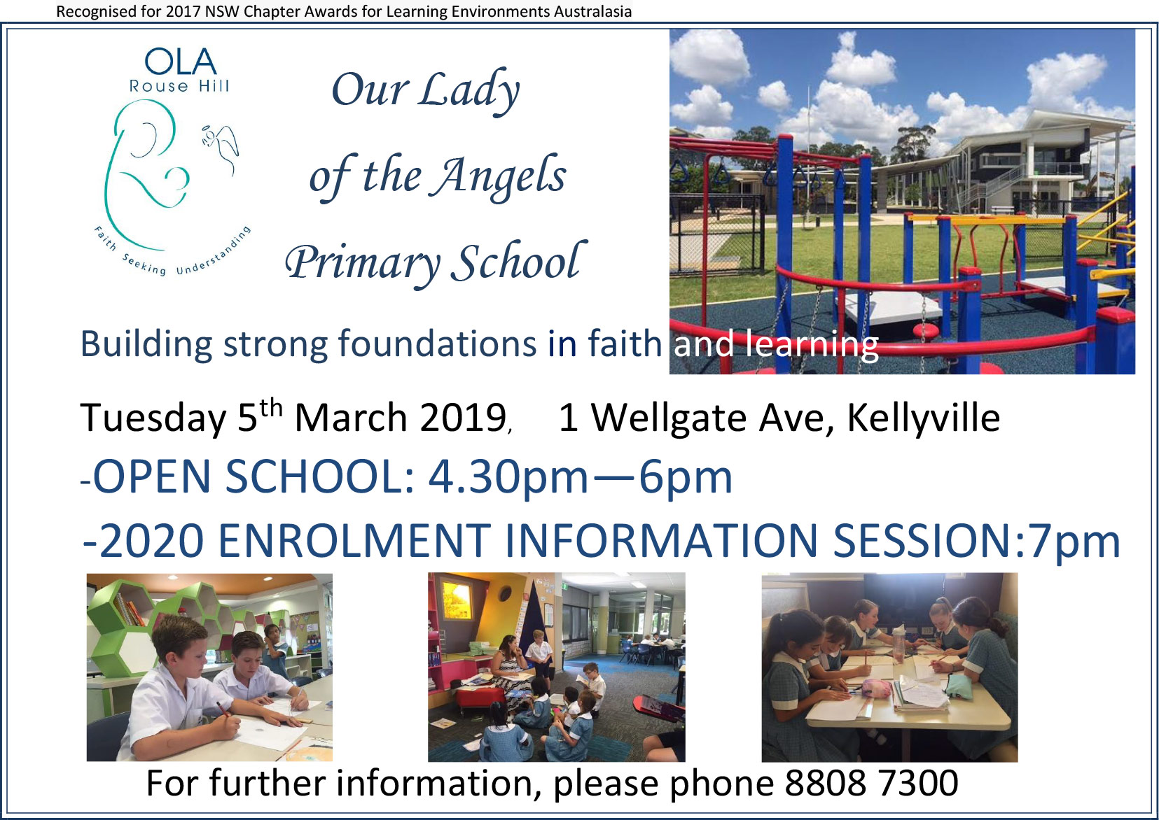 OLA Open Day Tuesday 5th March 2019 4:30pm to 6pm